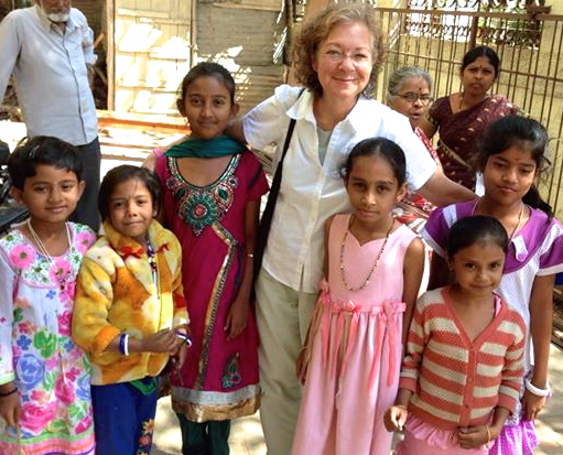 Visiting instructor at  the Jnana Sanjeevini Medical Center, Bangalore, India. These girls have Type 1 diabetes.