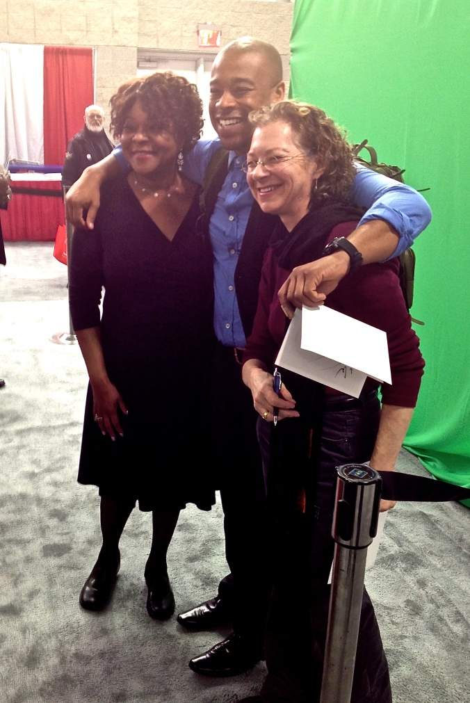 With Mother Love and Charles Mattocks at  the ADA Expo